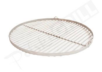 Ruszt okrągły do grilla - nierdzewny - podwieszany -50-90 cm