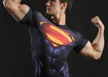 Koszulka Termoaktywna SIŁOWNIA Rashguard DC Superman roz. L