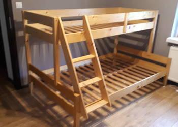 Łóżko piętrowe bez materacy