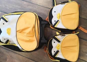 3b4b5fccdbaea Pingwinek - walizeczka na kółkach i dwa plecaczki dla dzieci