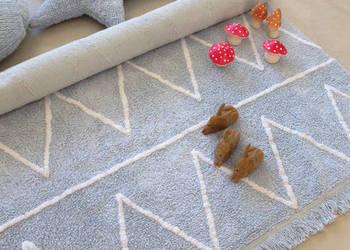 Niebieski różowy żółty dywan dziecięcy Lorena Canals BAWEŁNA