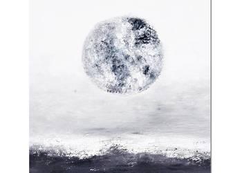 La Luna, abstrakcja, nowoczesny obraz ręcznie malowany