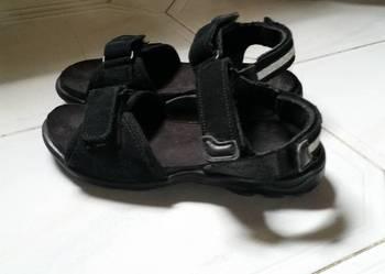 Sandały 29r. skóra,zamsz / 18cm.max. stan d. W-wa.