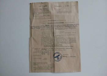 Niemieckie pismo urzędowe 1942 r.