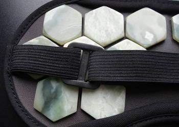 Zdrowotna Opaska na Oczy z Kamieniami Nefryt Odnowa dla Oczu