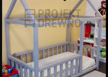 House Bed - szare łóżeczko domek