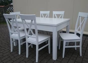 Nowoczesne krzesło białe krzyżak prowansalskie producent