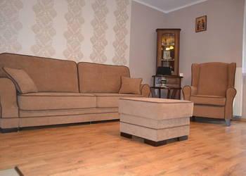 Zestaw wypoczynkowy Kanapa + fotel Uszak + pufa - PRODUCENT Gniewkowo