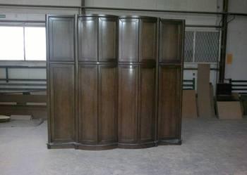 Duża szafa gięta, meble drewniane, fornirowane, na wymiar