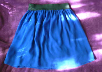 Niebieska spódnica spódniczka mini