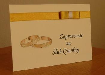 Zaproszenie na Ślub Cywilny Zaproszenia Nowość