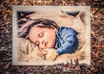 ZDJĘCIE NA DESCE Prezent CHRZEST chrzciny roczek narodziny