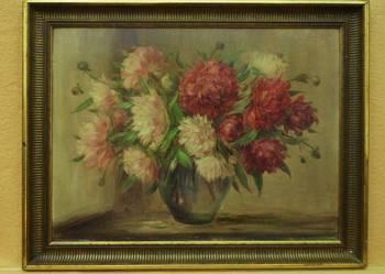 Flamandzki obraz olejny – peonie