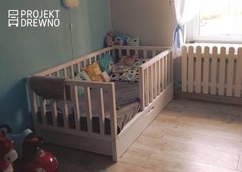 Drewniane nowoczesne łóżko dla dziecka