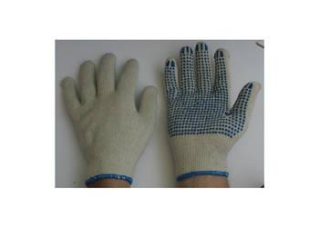 Rękawice dziane nakrapiane jednostronnie 12par