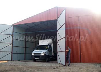 Garaż blaszany na maszyny rolnicze wiata hala magazyn 12x12